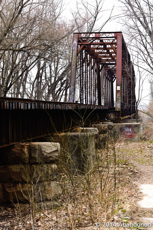 Madison indianapolis amp lafayette railroad abandoned by sherman
