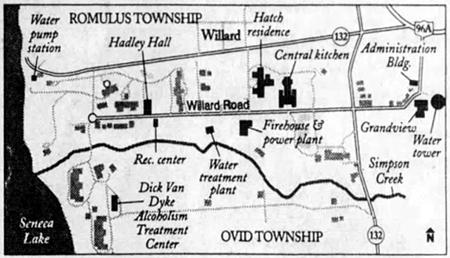 Willard Psychiatric Center Map